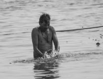 Gangasnan на Варанаси стоковое изображение