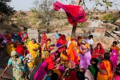 gangaur Раджастхан празднества стоковые изображения rf