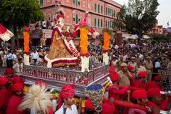 Gangaur Festival-Jaipur Lizenzfreies Stockbild