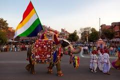 Gangaur Festival-Jaipur Stockfotos