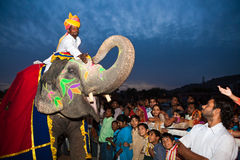 Gangaur Festival-Jaipur Immagini Stock