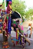 gangaur jaipur празднества стоковое изображение
