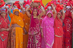 Gangaur Procession Royalty Free Stock Images