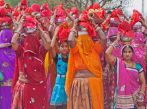Gangaur procession about to move off Royalty Free Stock Photo