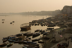 Ganges на Varanasi Стоковая Фотография