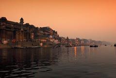 река ganges Индии Стоковое Изображение RF