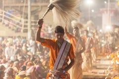 Ganges Aarti ceremony, Varanasi Stock Photo