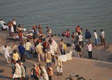 Ganges en Varanasi Fotos de archivo libres de regalías