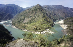 ganges höga River Valley Fotografering för Bildbyråer
