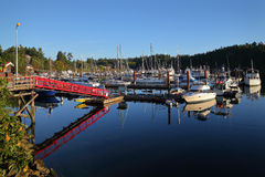 Ganges Harbor, Salt Spring Island, BC Stock Photos