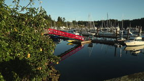 Ganges Harbor, Salt Spring Island, Government Dock stock video footage