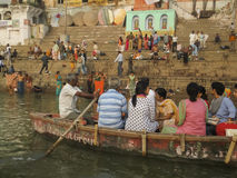 Ganges holy bath in Varanasi Stock Photography