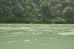The Ganges, Indian sacred river near Rishikesh, India Royalty Free Stock Photos