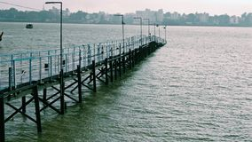 Ganges jetty. View of the kolkata from the banks of ganges royalty free stock image