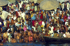 Ganges kąpielowicze Obraz Royalty Free
