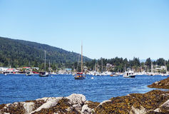 Ganges marina. Picture of the marina in Ganges, Salt Spring Island,BC,Canada Stock Photo