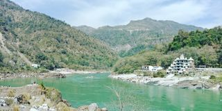 The Ganges in rishikesh stock images