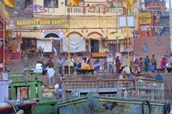 Ganges ritual stock photography