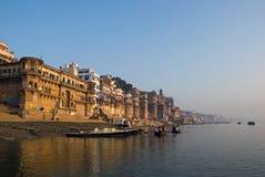 Ganges River. In Varanasi,India royalty free stock photo