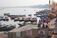 Ganges River Boats Stock Photo