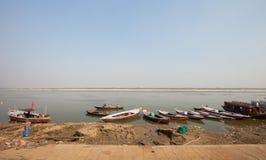 Ganges river boats, Varanasi Royalty Free Stock Image