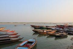 Ganges river ghat Varanasi India. Ganges river ghat in Varanasi India Royalty Free Stock Image