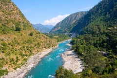 Ganges river in Himalayas mountains Stock Image