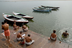 Ganges River i Indien arkivbild