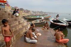 Ganges River i Indien fotografering för bildbyråer