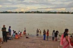Ganges River i Indien Royaltyfri Fotografi
