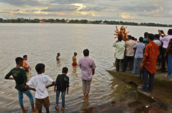 Ganges River i Indien Arkivfoto