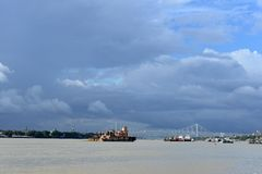 Ganges River In Kolkata Royalty Free Stock Photography
