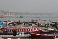 Ganges rzeka w zimie zdjęcie royalty free