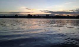 Gangesen är en horisont Arkivbilder