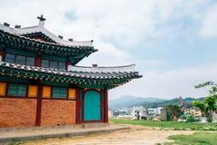 Ganghwa Anglican Catholic Church and city view in Incheon, Korea