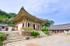 Ganghwa-gun, Korea - August 17, 2015: Daeungbojeon in Jeondeungsa Royalty Free Stock Images