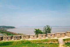 Ganghwa island Yeonmijeong Pavilion Wolgotdondae fortress and river in Incheon, Korea