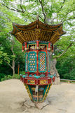 Ganghwa-vapen Korea - Augusti 17, 2015: Roterande Sutra fall Arkivbilder
