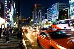 Gangnam街,汉城,韩国 免版税图库摄影