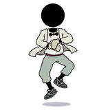 剪影人跳舞gangnam样式 免版税库存图片