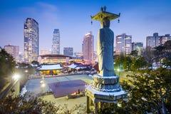 Gangnam汉城 免版税库存照片