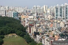Gangnam District in Korea Royalty Free Stock Photos