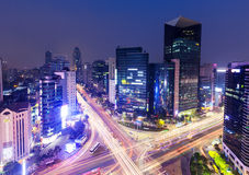 Gangnam District in Seoul city Stock Images