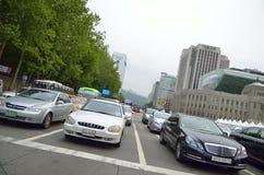 Gangnam district in Seoul, Korea Stock Photo