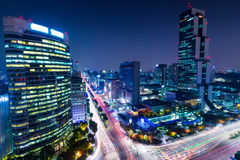 Gangnam district in Seoul Stock Image