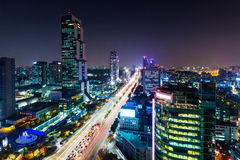 Gangnam District in Seoul Stock Photography