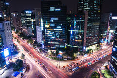 Gangnam Intersection Stock Image