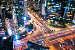 Gangnam Intersection Royalty Free Stock Photos