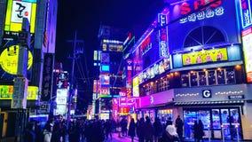 Gangnam nocy wspaniały widok południowy Korea obrazy stock