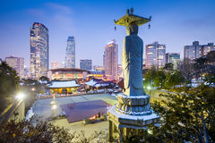 Gangnam Séoul Photos libres de droits
